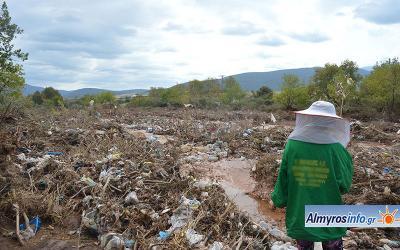 Μεγάλες καταστροφές στους μελισσοκόμους του Αλμυρού (φωτογραφίες)