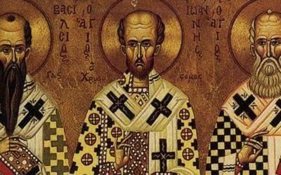 ΓΕΛ Αλμυρού: Υποδειγματική Θεία Λειτουργία για την γιορτή των  Τριών Ιεραρχών