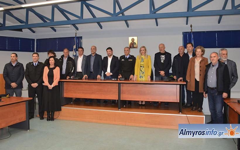 Η επίσκεψη του Γ.Γ. Πολιτικής Προστασίας στο Δήμο Αλμυρού (βίντεο&φωτο)