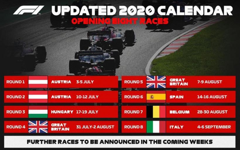 Επίσημο: Εκκίνηση στις 5 Ιουλίου για τη Formula 1!