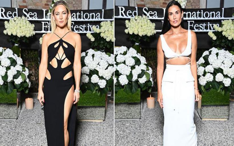 Kate Hudson-Demi Moore: Μαγνήτισαν τα βλέμματα με τα σέξι φορέματά τους στη Βενετία
