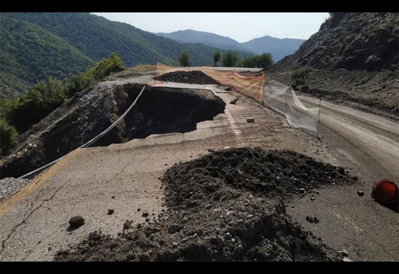 Καθιζήσεις και κατολισθήσεις μεταξύ Αλμυρού-Ανάβρας – Εργασίες από Περιφέρεια στο ορεινό οδικό κύκλωμα