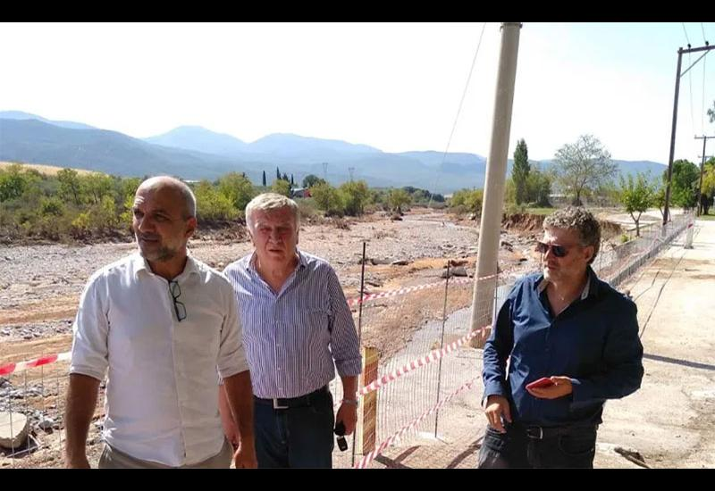 Στις πληγείσες περιοχές του Αλμυρού ο πρόεδρος της Περιφερειακής Ένωσης Δήμων Θεσσαλίας